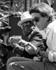 John Lee Hooker & Ry Cooder perform at the Bread & Roses Festival held at the Greek Theater in Berkeley in 1990.