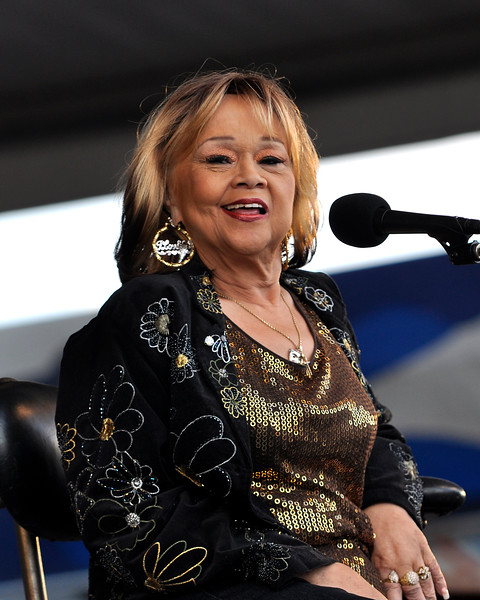 Etta James & The Roots Band performing live at the New Orleans Jazz & Heritage Festival on April 26, 2009.