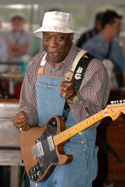 Buddy Guy performs at the New Orleans Jazz & Heritage Festival on 4-23-05.
