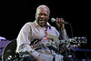 B.B. King performs at the Concord Pavilion in Concord, CA on tour with Jeff Beck, 8-1-03     .