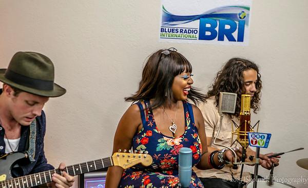 5 22 15 Annika Chambers Studio Shoot at Blues Radio International