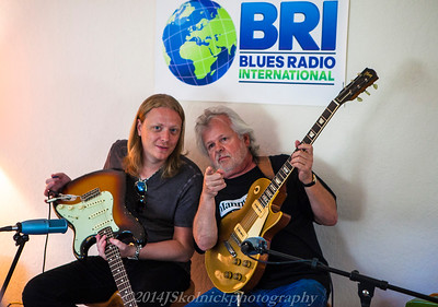 Jeff Prine Matt Schofield at BRI Studio 7/11/14