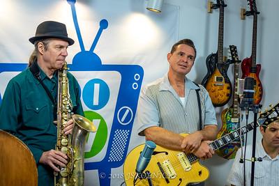 Doug Deming with  Andrew Gohman, bass David Cotton, sax and  Chris Peet, drums at Blues Radio International Studio  with Jesse Finkelstein 12.18.18
