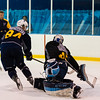 July5,2016 - Hazelwood - MO, Unites States of America. St Louis Blues Prospect Evan Fitzpatrick (45) and Dwyer Tschantz (84) during St. Louis Blues 2016 Prospect Camp at Ice Zone