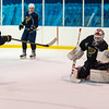July5,2016 - Hazelwood - MO, Unites States of America. St Louis Blues Prospect Connor Bleackley (67) vs Ville Husso (40) during St. Louis Blues 2016 Prospect Camp at Ice Zone