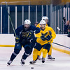 July5,2016 - Hazelwood - MO, Unites States of America. St Louis Blues Prospect Jordan Kyrou one one one vs  Justin Selman (79)  during St. Louis Blues 2016 Prospect Camp at Ice Zone