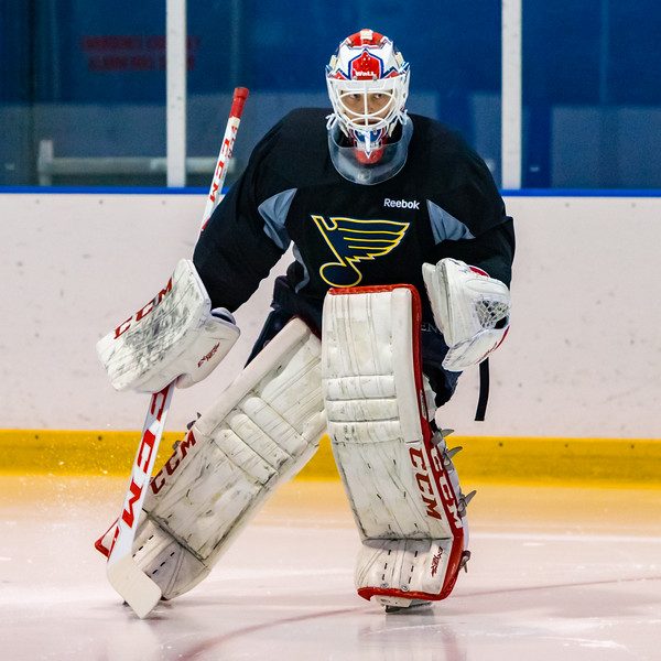 July5,2016 - Hazelwood - MO, Unites States of America. St Louis Blues Prospect Ville Husso (40) during St. Louis Blues 2016 Prospect Camp at Ice Zone