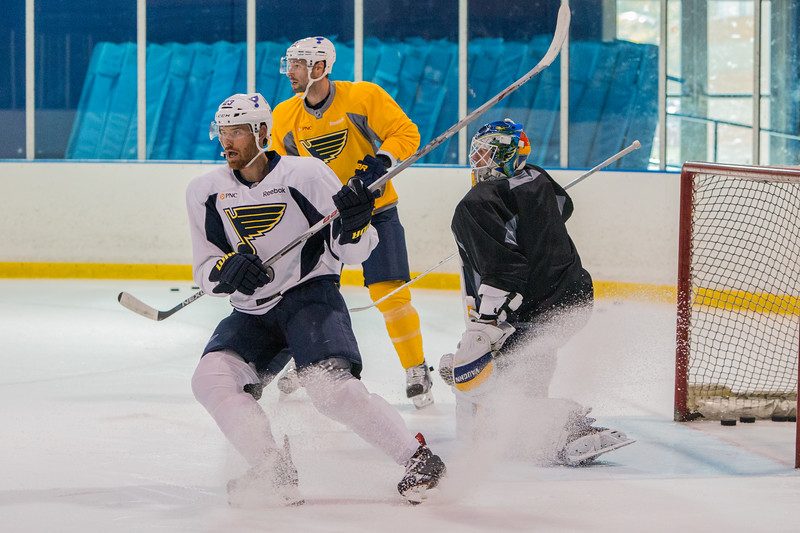 November6,2015 - Hazelwood - MO, Unites States of America. St Louis Blues  during practice at Ice Zone