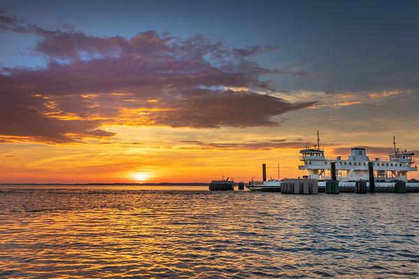 Jamestown ferry docked