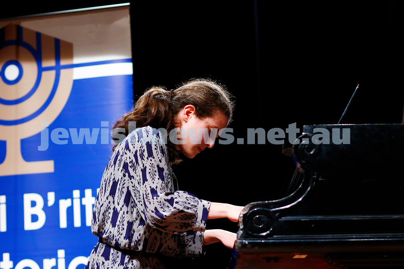 18-9-16. B'nai B'rith Youth Music Eisteddfod. Rebekka Krishtal. Photo: Peter Haskin