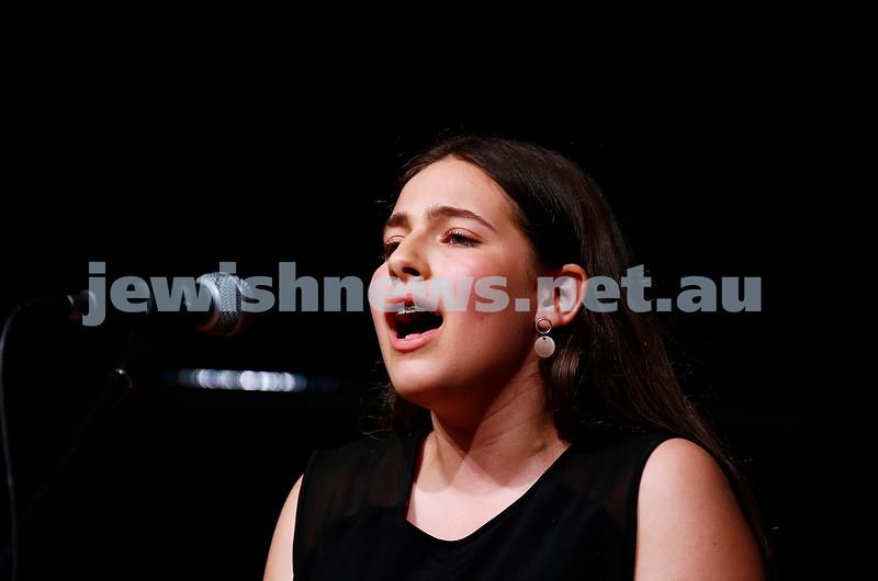 18-9-16. B'nai B'rith Youth Music Eisteddfod. Freya Boltman. Photo: Peter Haskin