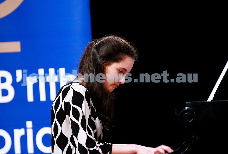 18-9-16. B'nai B'rith Youth Music Eisteddfod. Sara Krishtul. Photo: Peter Haskin