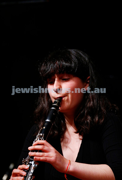 18-9-16. B'nai B'rith Youth Music Eisteddfod. B'nai B'rith Scholarship winner Lily Tamir-Regev. Photo: Peter Haskin