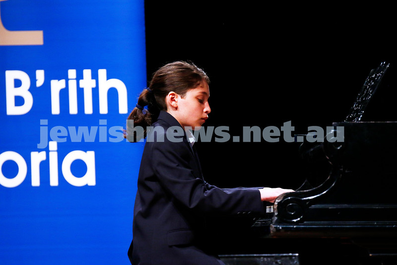 18-9-16. B'nai B'rith Youth Music Eisteddfod. Yehonatan Margolin. Photo: Peter Haskin