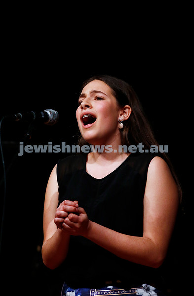 18-9-16. B'nai B'rith Youth Music Eisteddfod. Freya Boltman. Photo: Peter Haskin