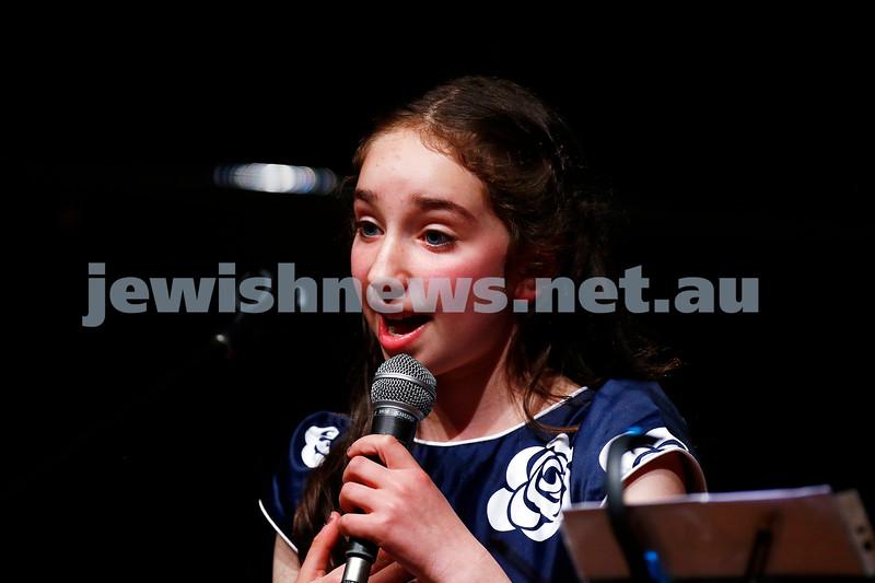 18-9-16. B'nai B'rith Youth Music Eisteddfod. Jodie Silberthau. Photo: Peter Haskin