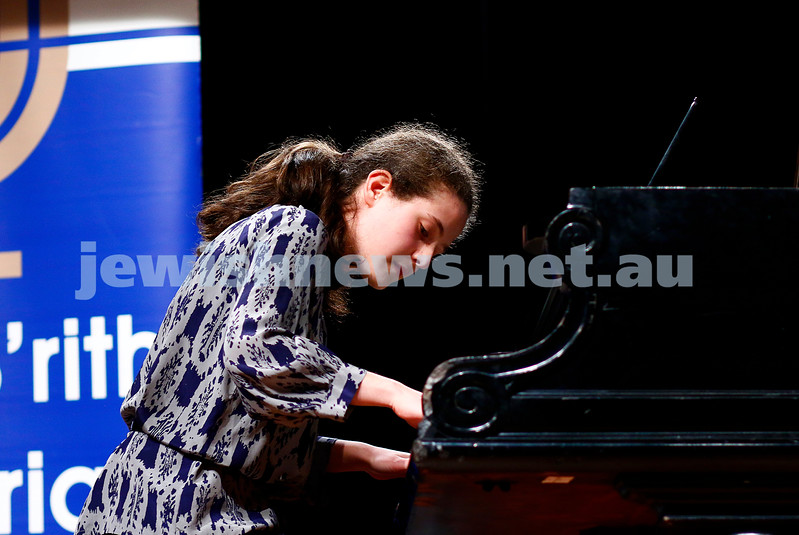 18-9-16. B'nai B'rith Youth Music Eisteddfod. Rebekka Krishtul. Photo: Peter Haskin