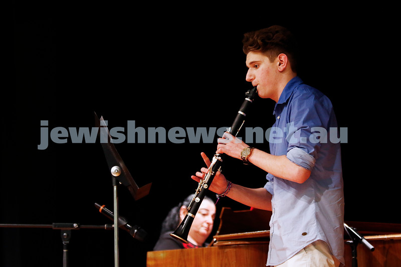 10-9-17. B'nai B'rith Jewish Youth Music Eisteddfod. Benjamin Wald. Photo: Peter Haskin