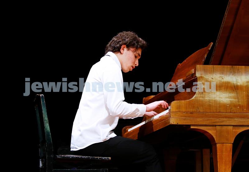 10-9-17. B'nai B'rith Jewish Youth Music Eisteddfod.  Daniel Freidgeim. Photo: Peter Haskin