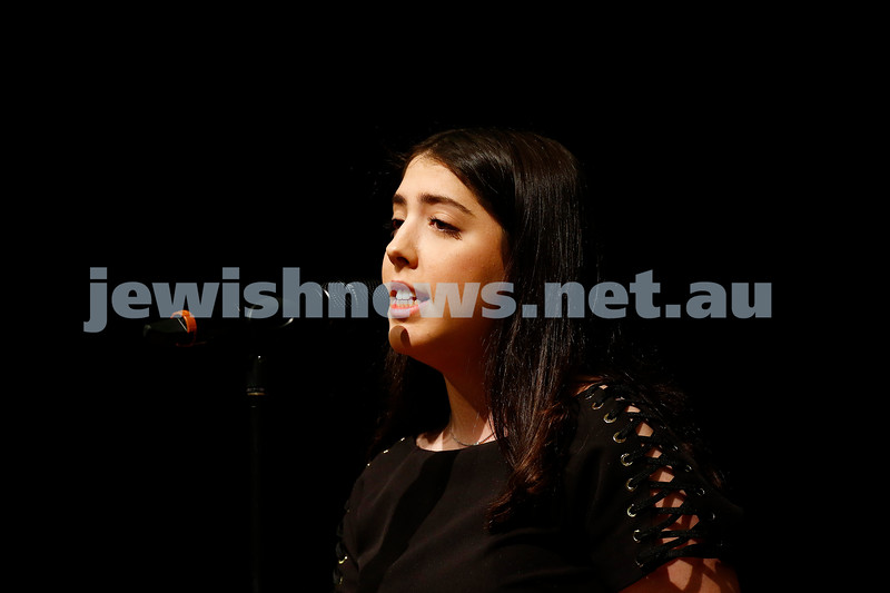 10-9-17. B'nai B'rith Jewish Youth Music Eisteddfod.  Jessica Mond. Photo: Peter Haskin