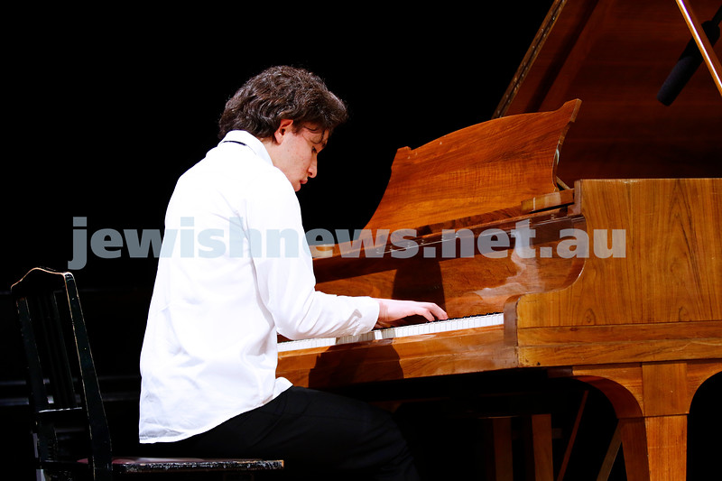 10-9-17. B'nai B'rith Jewish Youth Music Eisteddfod.  Daniel Freidgeim. Photo: Peter Haskin