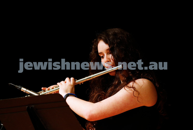 10-9-17. B'nai B'rith Jewish Youth Music Eisteddfod. Yael Zamir. Photo: Peter Haskin
