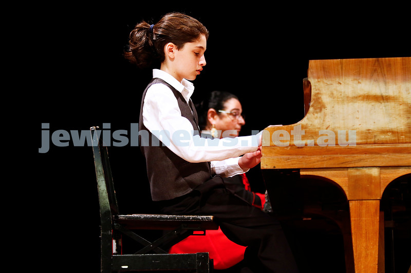 10-9-17. B'nai B'rith Jewish Youth Music Eisteddfod. Yehonatan Margolin. Photo: Peter Haskin