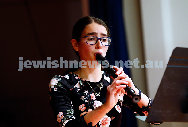 10-9-17. B'nai B'rith Jewish Youth Music Eisteddfod. Orr Zaacks. Photo: Peter Haskin
