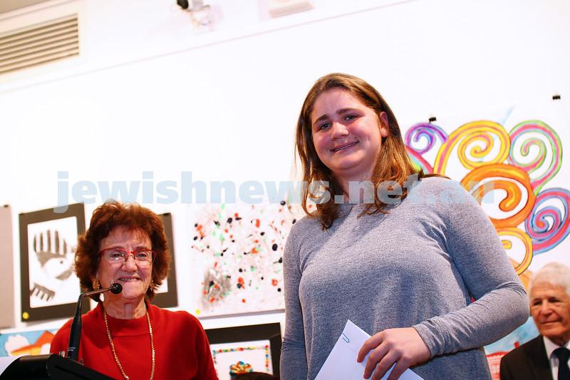 9-8-15. B'nai B'rith Shalom Menorah Unit 20th Annual Jewish Youth Art Competition. Photo: Peter Haskin