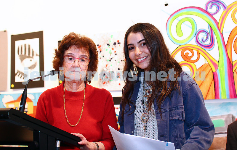 9-8-15. B'nai B'rith Shalom Menorah Unit 20th Annual Jewish Youth Art Competition. Courtney Pollack. 1st prize, digital, 16-18. The King David School. Photo: Peter Haskin