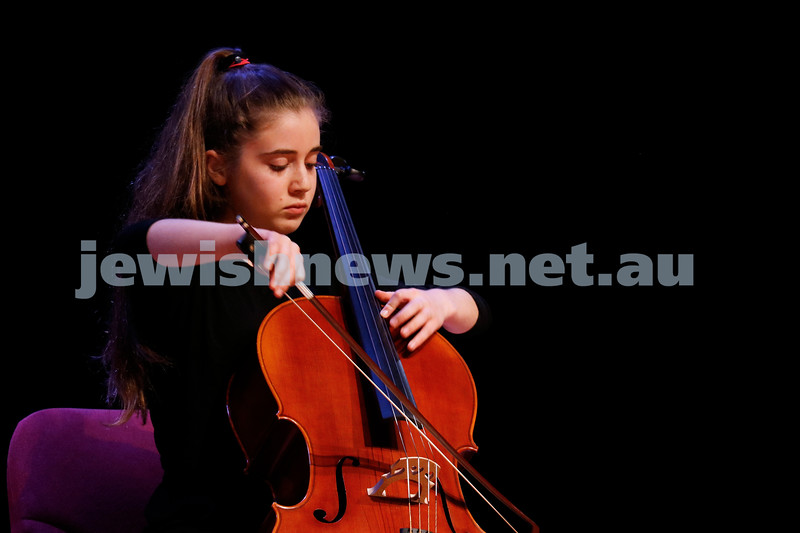 2-9-18. B'nai B'rith Jewish Youth Music Eistedfod finals concert. Glen Eira Town Hall. Yoni Ringelblum. Photo: Daniel Goodrich.
