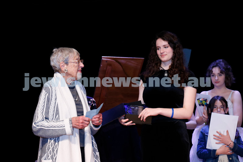 2-9-18. B'nai B'rith Jewish Youth Music Eistedfod finals concert. Glen Eira Town Hall. Lady Anna Cowen, Yael Zamir. Photo: Daniel Goodrich.