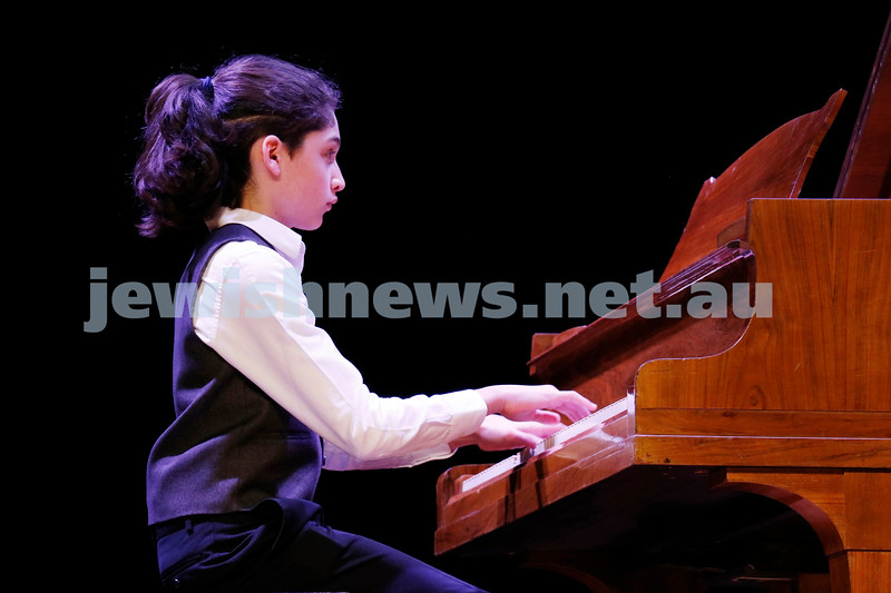 2-9-18. B'nai B'rith Jewish Youth Music Eistedfod finals concert. Glen Eira Town Hall. Yehonatan Margolin. Photo: Daniel Goodrich.