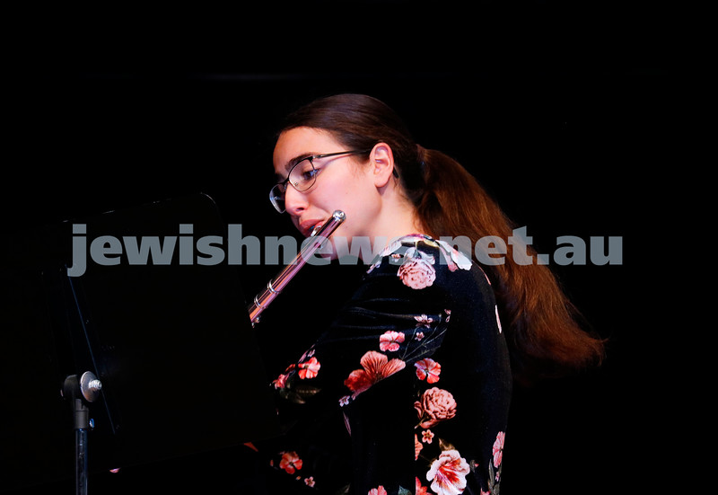 2-9-18. B'nai B'rith Jewish Youth Music Eistedfod finals concert. Glen Eira Town Hall. . Photo: Daniel Goodrich.