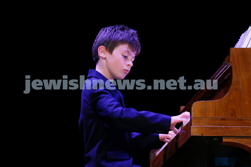 2-9-18. B'nai B'rith Jewish Youth Music Eistedfod finals concert. Glen Eira Town Hall. Yonathan Ozernov. Photo: Daniel Goodrich.