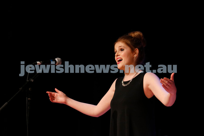2-9-18. B'nai B'rith Jewish Youth Music Eistedfod finals concert. Glen Eira Town Hall. Danielle Carey. Photo: Daniel Goodrich.