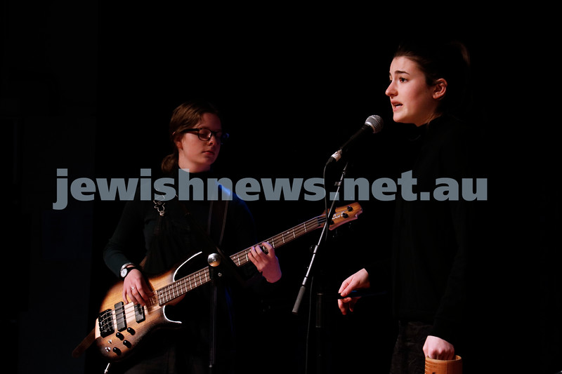 2-9-18. B'nai B'rith Jewish Youth Music Eistedfod finals concert. Glen Eira Town Hall. Leibler Yavneh Jazz Band. Photo: Daniel Goodrich.