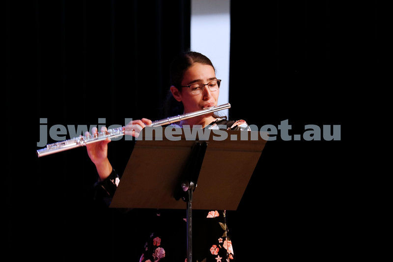 2-9-18. B'nai B'rith Jewish Youth Music Eisteddfod finals concert. Glen Eira Town Hall.  Photo: Daniel Goodrich.