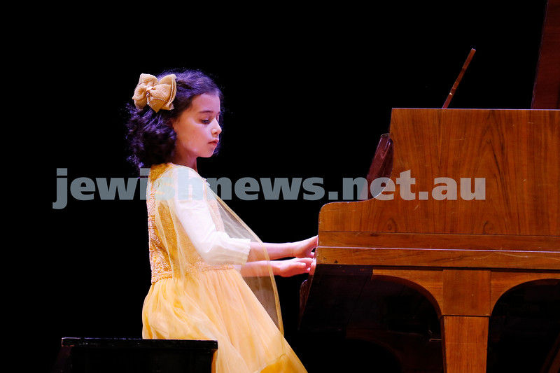 2-9-18. B'nai B'rith Jewish Youth Music Eistedfod finals concert. Glen Eira Town Hall. Havah Rotblat. Photo: Daniel Goodrich.