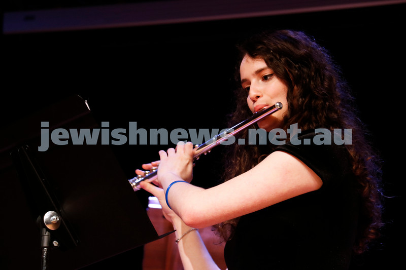 2-9-18. B'nai B'rith Jewish Youth Music Eistedfod finals concert. Glen Eira Town Hall. Yael Zamir. Photo: Daniel Goodrich.