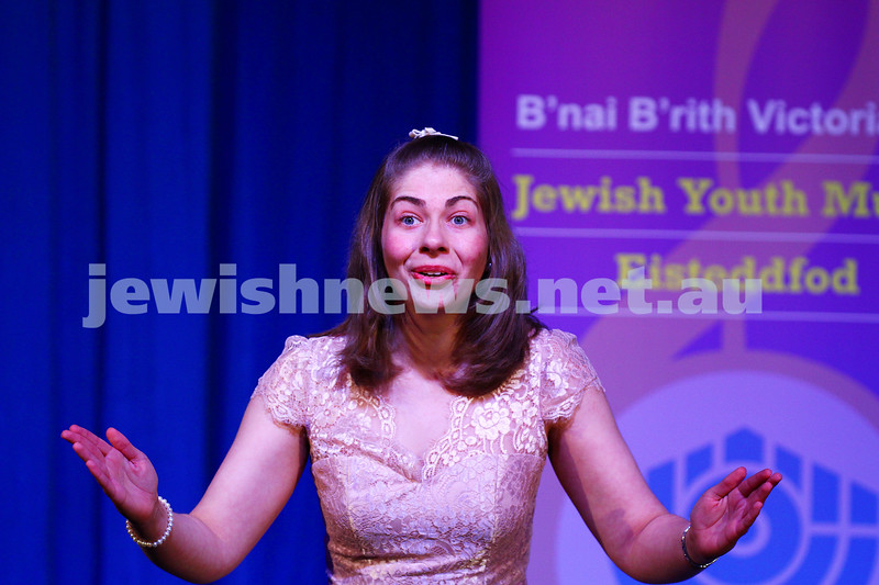 6-9-15. B'nai B'rith Jewish Youth Music Eisteddfod. Sharon Mattatia. Finals Concert 2015. Photo: Peter Haskin