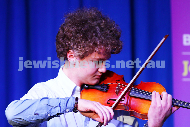 6-9-15. B'nai B'rith Jewish Youth Music Eisteddfod.  Max Needleman. Finals Concert 2015. Photo: Peter Haskin