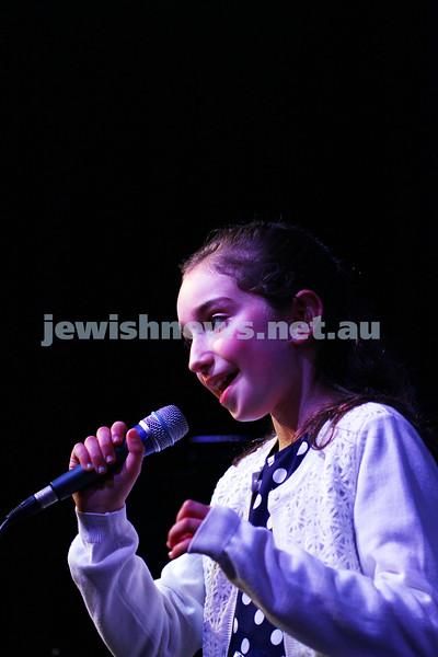 6-9-15. B'nai B'rith Jewish Youth Music Eisteddfod.  Jodie Silberthau. Finals Concert 2015. Photo: Peter Haskin