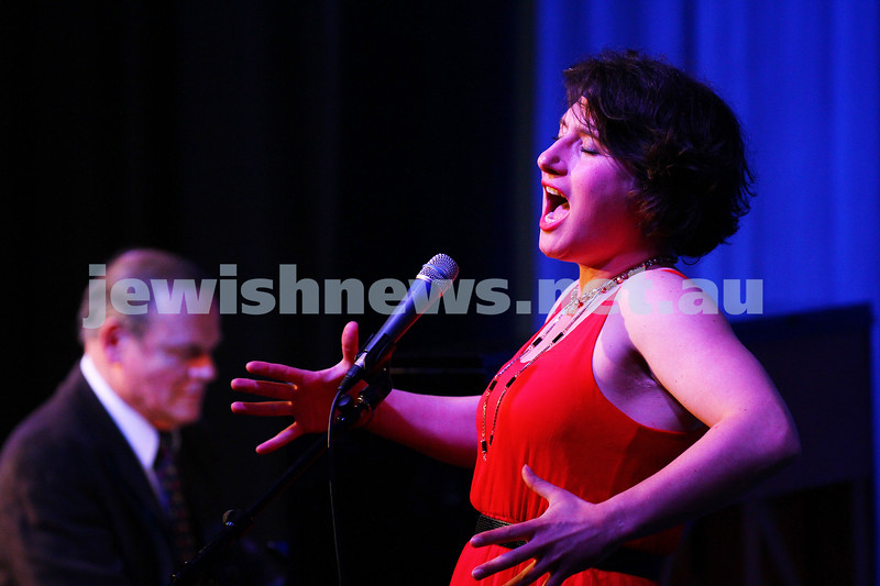 6-9-15. B'nai B'rith Jewish Youth Music Eisteddfod. Galit Klas with Alan Kogosowski on piano. Finals Concert 2015. Photo: Peter Haskin