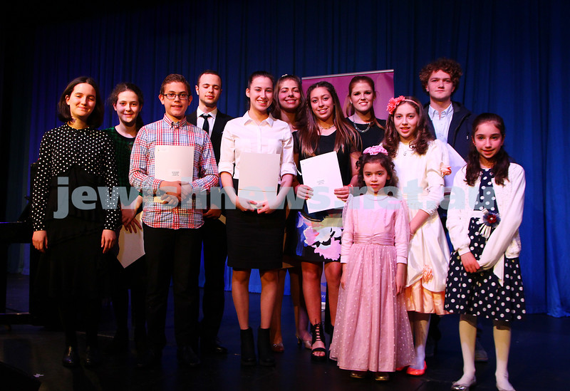 6-9-15. B'nai B'rith Jewish Youth Music Eisteddfod.  Finals Concert 2015. Photo: Peter Haskin