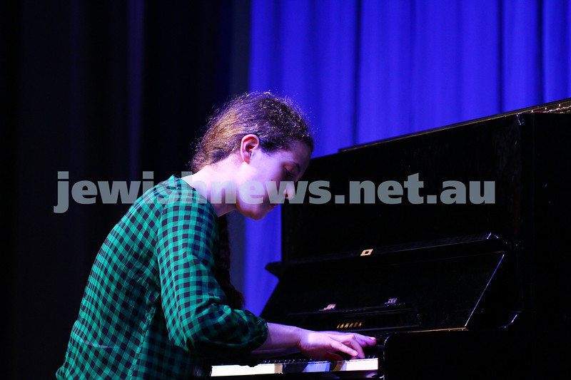 6-9-15. B'nai B'rith Jewish Youth Music Eisteddfod.  Rebekka Krishtul. Finals Concert 2015. Photo: Peter Haskin