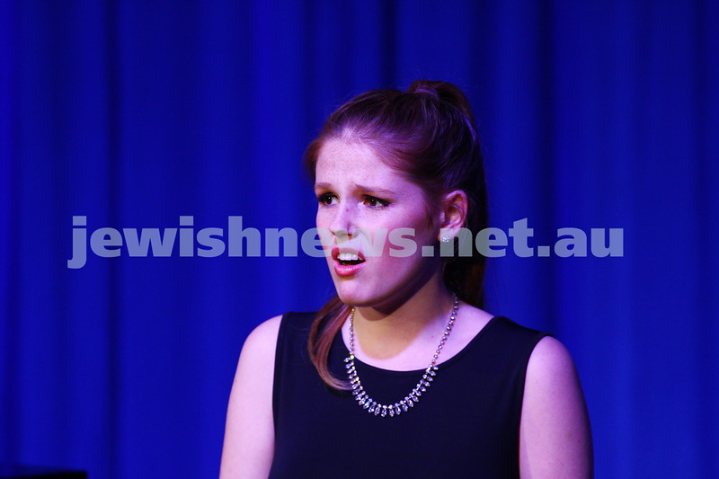 6-9-15. B'nai B'rith Jewish Youth Music Eisteddfod.  Danielle Carey. Finals Concert 2015. Photo: Peter Haskin