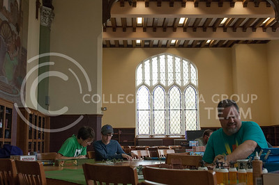 Board game day hosted by the Games CLUB in Hale Library in Mahattan, Kan. Nov. 4, 2017. (Justin Wright | Collegian Media Group)