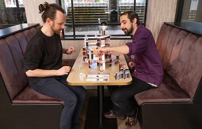 Cat Chess at Cappuvino