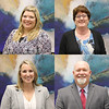 Collage of new administrators appointed at April 2019 board meetings:<br /> Keri McCarty, Principal of Bell Manor Elementary<br /> Kristen Manning, Coordinator of Mathematics, grades 6-12<br /> Joy Keohane, Coordinator of Health Services<br /> John Adkins, Principal of KEYS High School (from April 8 meeting)